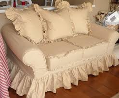 Shabby Chic Armchairs by Chair Slip Covers Natural Twill U0026 White Arm Sofa Shabby Chic