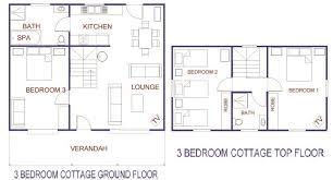 Ground Floor 3 Bedroom Plans 100 3 Bedroom Cabin Floor Plans Bedroom House Simple Plan