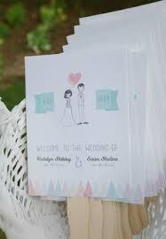 Wedding Fan Programs Diy 15 Non Traditional Wedding Programs Wedding Programs