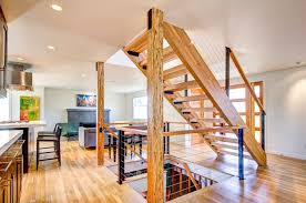 Open Plan by Open Plan Living Space With Floating Wood Staircase 48187 House