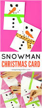 snowman christmas card easy peasy and fun
