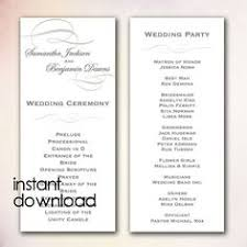 one page wedding programs set up in same theme as concert ticket invitation one page