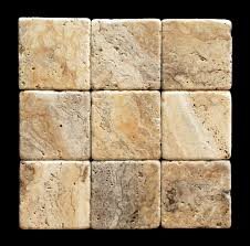 philadelphia 4 x 4 travertine tumbled tile 4 pcs sample set