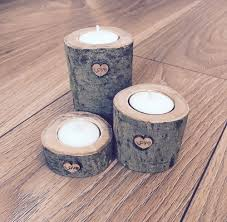wooden candle holders ebay