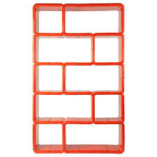 orange red modular plastic umbo bookshelf furniture storage