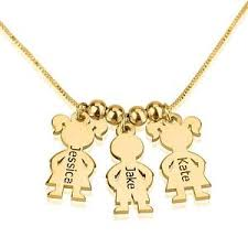 mothers necklace mothers necklace gold plated children charms necklace boy girl