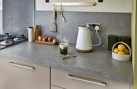 the light stone effect worktop and backboard complements our