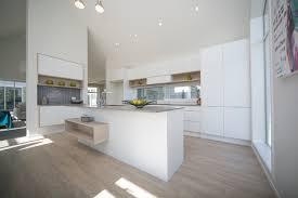 Hettich Kitchen Designs Cabinetry Bestwood Melamine Simply White Wilderness Finish Laser