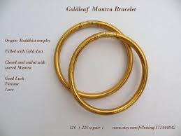 gold leaf bracelet images Goldleaf mantra bracelet the pair etsy jpg