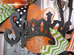 halloween deco mesh wreath the contractor chronicles