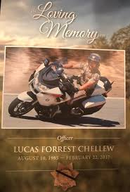 colleagues family friends honor chp officer lucas chellew at