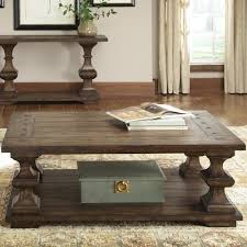 turned leg coffee table liberty furniture sedona rectangular cocktail table with bottom
