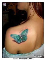 butterfly tattoos lower stomach 3
