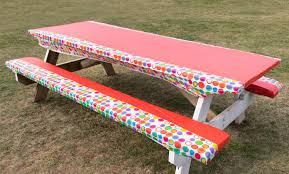 diy picnic table cushioned seats upcycling diy projects arrow