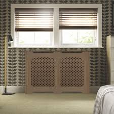 mayfair large white painted radiator cover departments diy at b u0026q