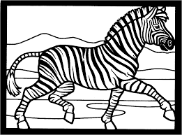 zebra print free coloring pages on art coloring pages