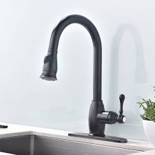 brushed nickel 3 hole kitchen faucet single handle pull down spray