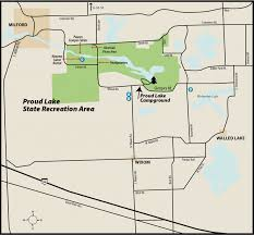 Island Lake State Park Map by Proud Lake State Parkmaps U0026 Area Guide Shoreline Visitors Guide