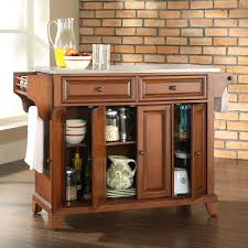 kitchen island cart stainless steel top kitchen kitchen carts and islands ideas using cherry wood non