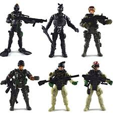 6 pcs large figure army soldiers with