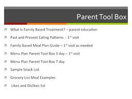 family based treatment maudsley fbt parent coaching re feeding