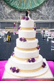 white gold and purple wedding five tier white gold and purple wedding cake