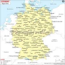 map of germany cities cities in germany german cities