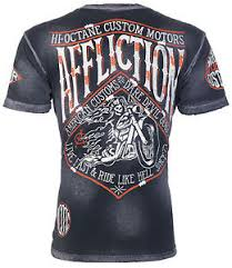 affliction mens t shirt sidecar american customs motorcycle biker