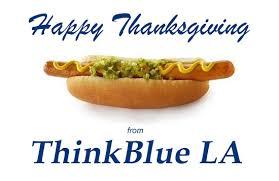 happy thanksgiving think blue la