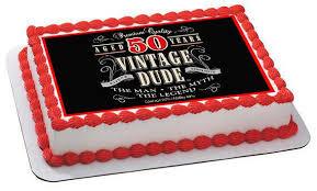 50 birthday cake vintage dude 50th edible cake and cupcake topper decor edible