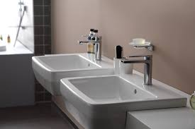 55cm semi recessed basin single hole semi recessed