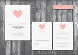digital wedding invitations wedding invitation suite digital printable file heart wedding