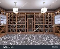 wine cellar basement house rustic style stock illustration