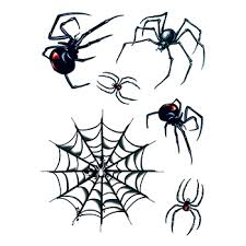 halloween spider and web temporary tattoos goimprints