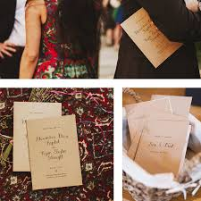 calligraphy kraft wedding invitation by feel good wedding