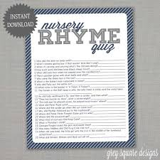 nursery rhyme baby shower nursery rhyme quiz baby shower navy blue