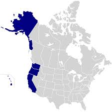 Map Of The United States With States Labeled by Pacific States Wikipedia