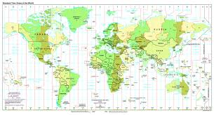 Large Map Of The World Large Detailed Map Of Standart Time Zones Of The World 1997