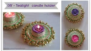 diy tealight candle holder beautiful golden diya tealight