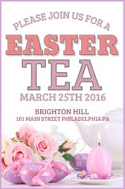 easter tea party pink easter tea party flyer design click to customize easter