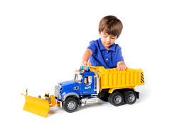 bruder toys logo amazon com bruder mack granite dump truck with snow plow blade