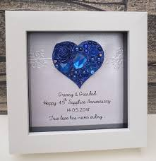 65th anniversary gift 65th wedding anniversary gift 65th anniversary gift sapphire