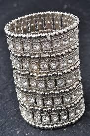 bracelet elastic silver images Silver rhinestones jeweled elastic cuff bracelet jpg