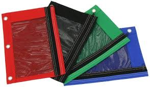 pencil pouches bazic 3 ring pencil pouch with a mesh window colors