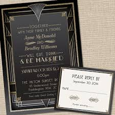 gatsby wedding invitations great gatsby wedding invitations with rsvp cards and