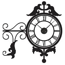 wall sticker clocks red candy antique clock wall sticker