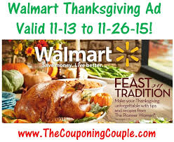 walmart thanksgiving ad for 11 13 to 11 26 15