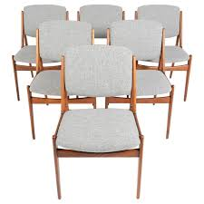 Mustard Dining Chairs by Set Of Six Arne Vodder Ella Dining Chairs In Oak At 1stdibs
