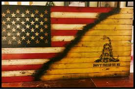 Usa Flag History Dont Tread On Me Gadsden Flag American Revolution Rustic