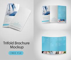 trifold brochure mockup free psd download download psd